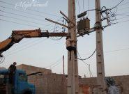 جابجايي تيربرق و تلفن در روستاي سهموجنوبي