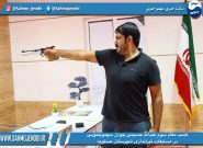كسب مقام سوم عبدالله حسينى جوان سهموجنوبى در مسابقات تیراندازی عسلویه